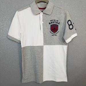 Nautica Polo Shirt Boys Medium 10/12
